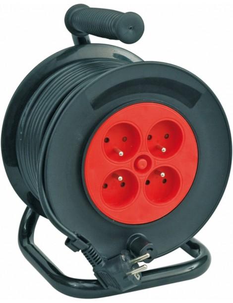 Zemējuma pagarinājums ar CE, 3x1mm2, 25m / 4 kontaktligzdām / 230V
