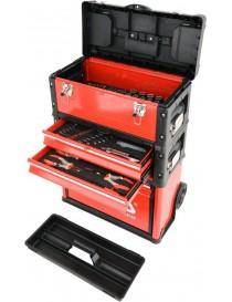 Instrumentu kaste uz riteņiem metāla ar instrumentiem