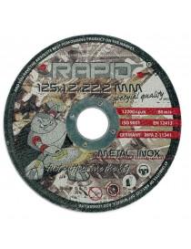 Abrazīvie diski 125X1.0X22.2MM RAPID