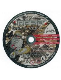 Abrazīvie diski 230X1.9X22.2MM RAPID